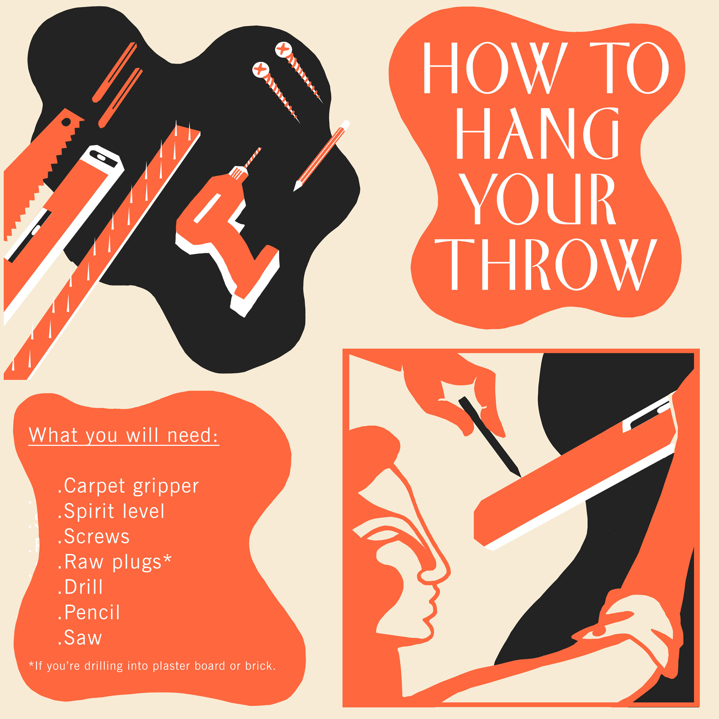 HOW TO HANG YOUR THROW